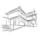 architecture-croquis-dessin-du-bâtiment-