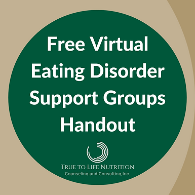 Free Virtual Eating Disorder Support Groups