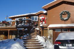 housefront in winter