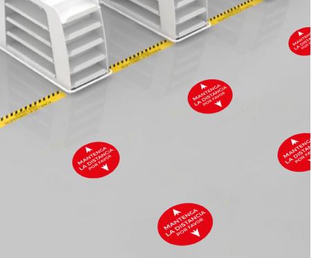 Adhesivos transitables - Puntos de posición 8 uds.