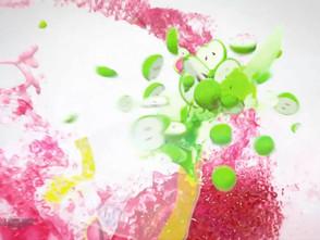 ジューシーなイメージを 流体で表現した映像 Jolly Rancher  Untamed Fruit Flavor