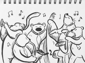 Jazz Bears Sketch