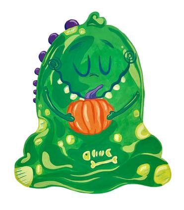 Halloween Slime Monster