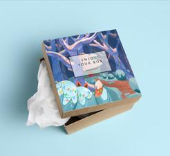 Winter Cottage Box