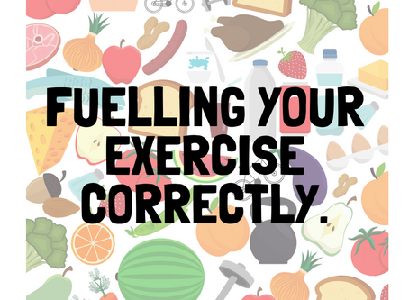 Fuelling your exercise.
