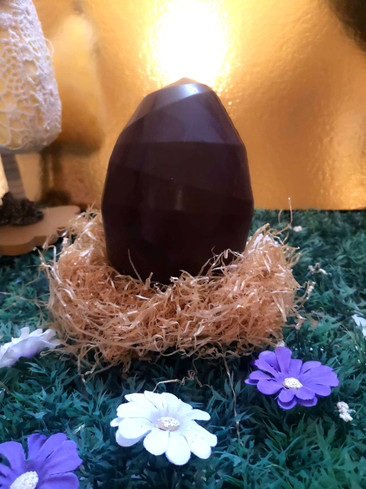 Œuf Origami en chocolat noir