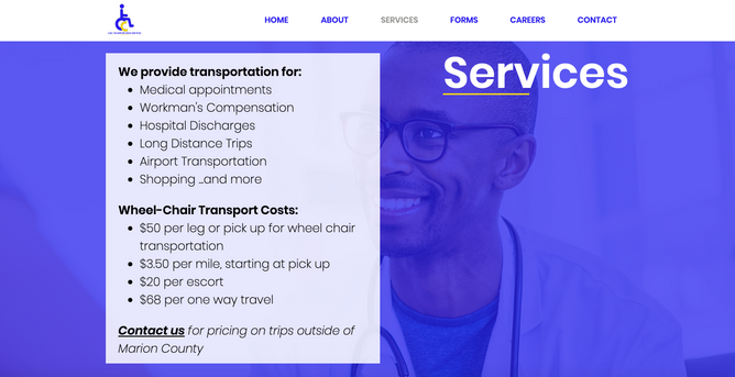 C and C Services Page