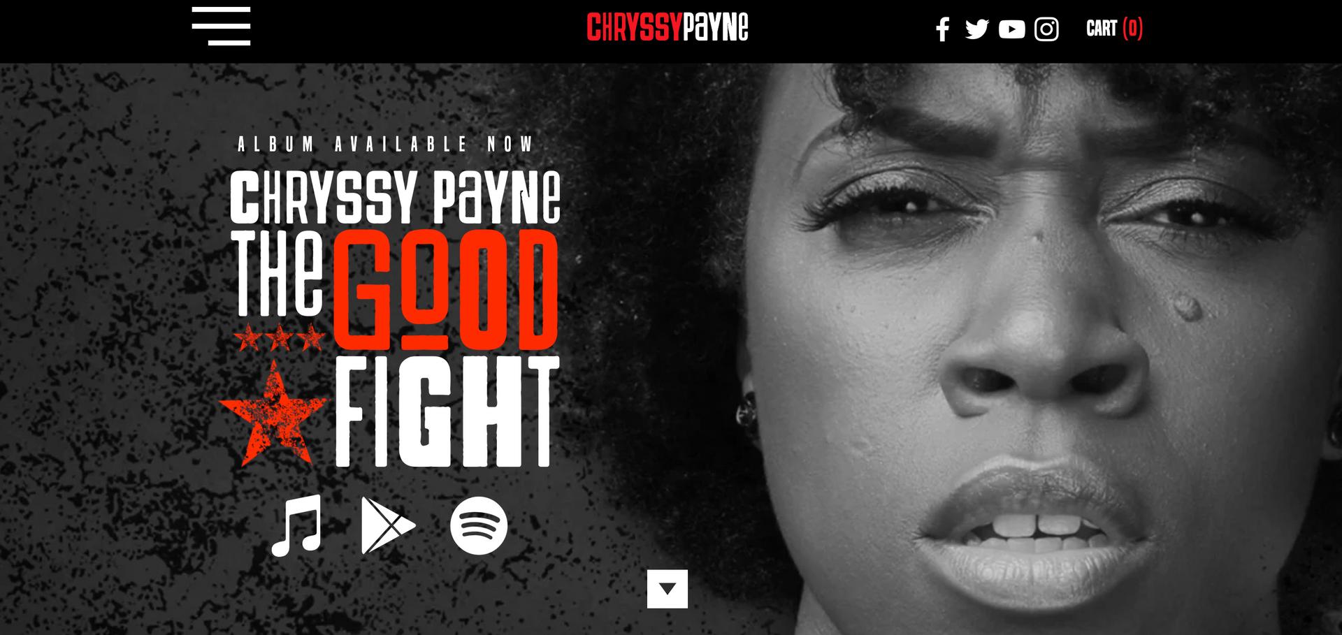 Chryssy Payne Website Home Page