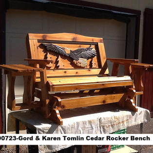190723-Gord & Karen Tomlin Rocker Bench