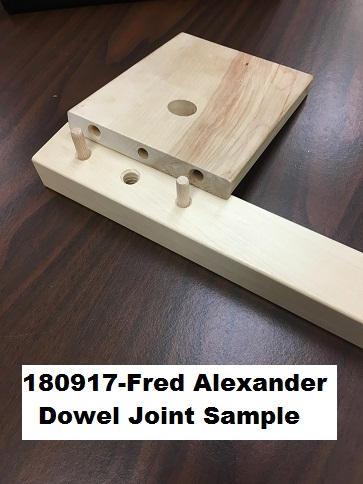 180917-Fred Alexander Dowel Joint Sample