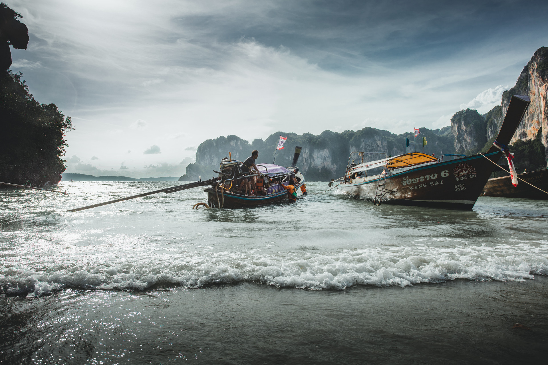 Railay longtail boats