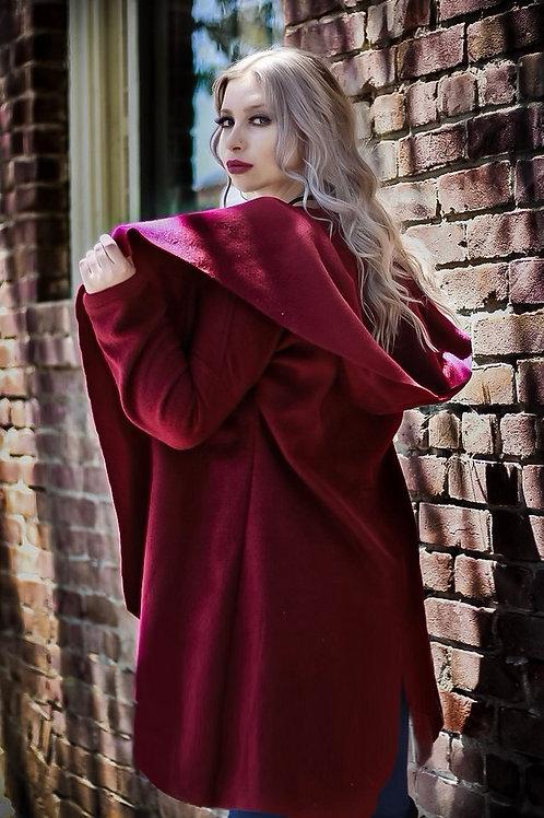 Burgundy Cardi-Coat
