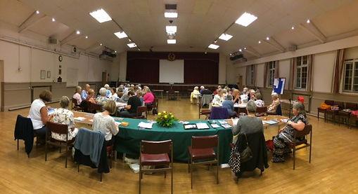 Ashtead WI Sept '18 meeting-main hall (2