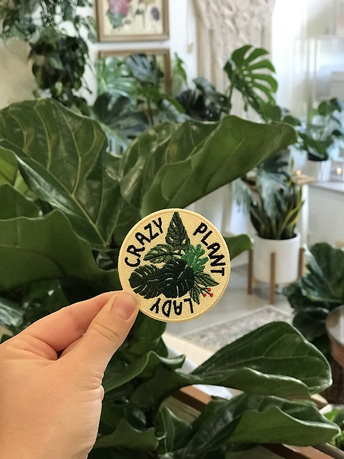 Crazy Plant Lady Iron On Patch