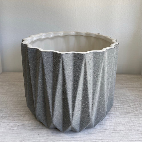 "Gray Organic Pot 7""W x 6.5""H"