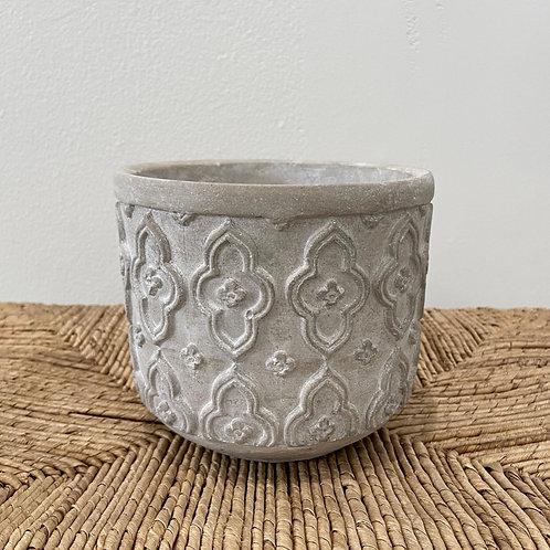 """Concrete Moroccan Pattern Pot 5.5""""x5"""""""
