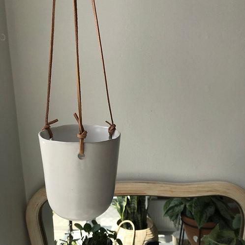 """White Hanging Pot 4"""""""