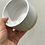 "Thumbnail: White Pot with Wood Base 3.75"""