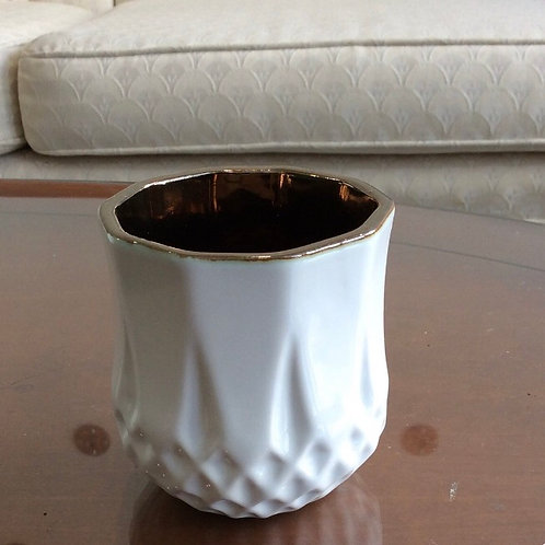 "White Antique Pot Small 3""x3.25"""
