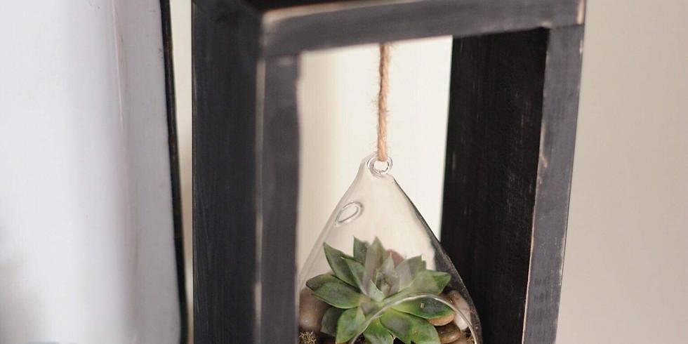 June 22 Terrarium Frame Making + Succulent Planting Class at Generations Revival