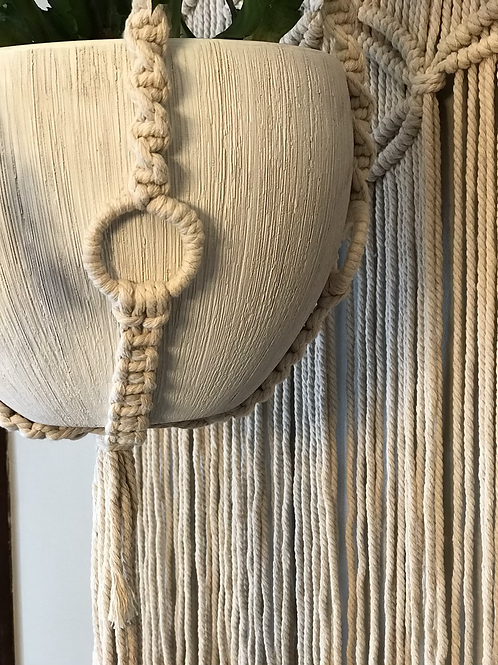"""Macrame Plant Hanger 45""""L (plant and pot sold separately)"""