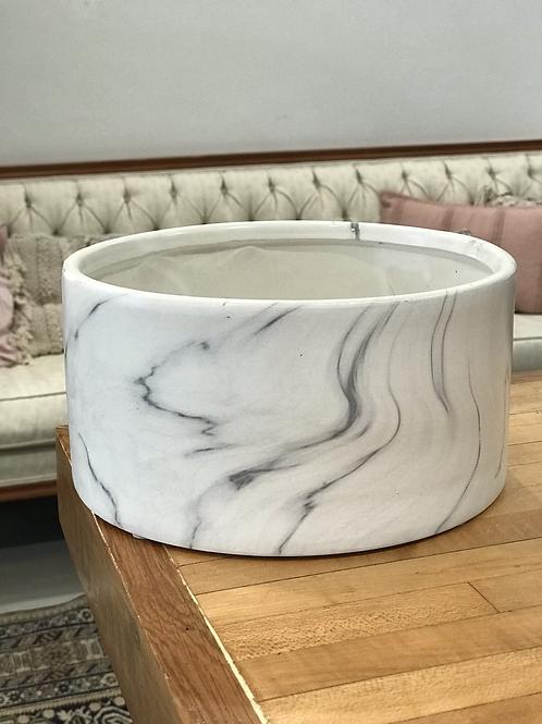 "Marble Pot 8.25""W x 4.5""H"
