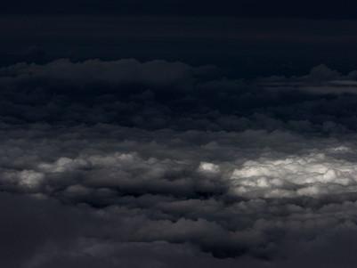FLYING OVER CLOUD TERRAIN