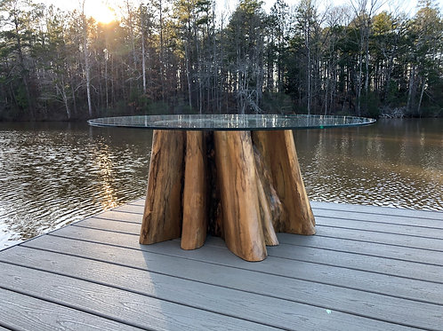 Teak stump coffee table
