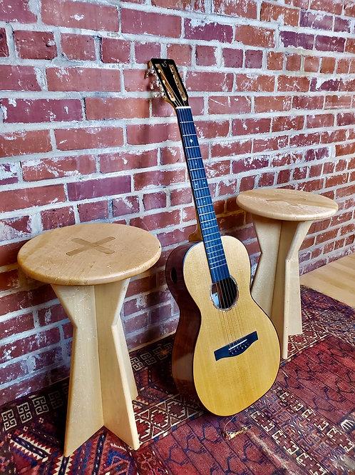 Birdseye maple stools