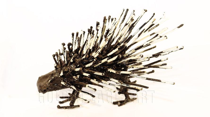 Recycled metal hedgehog