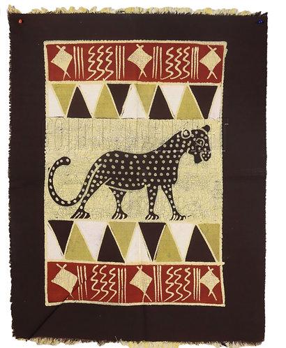 Zimbabwe Batik table cloth with Cheetah Painting