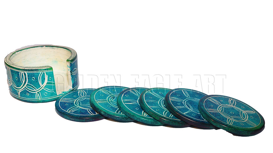 Soapstone coasters