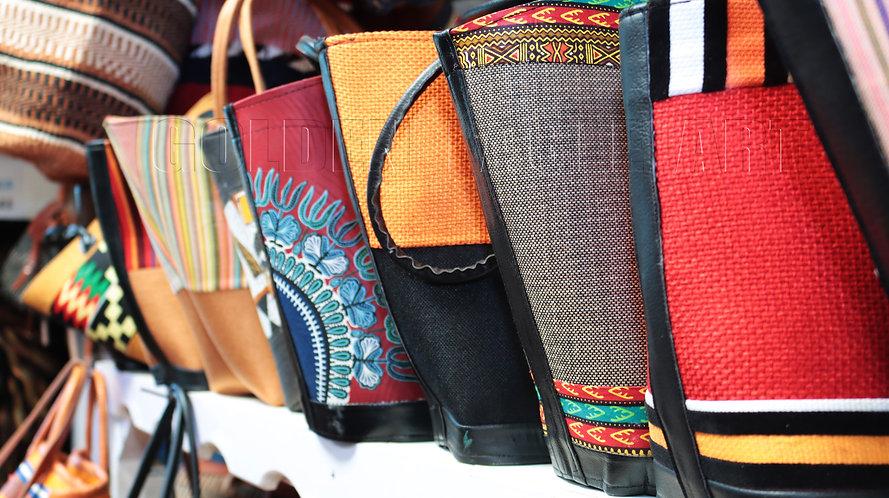 Fabric shopping purse