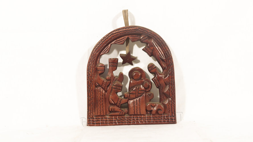 Wall plate nativity set