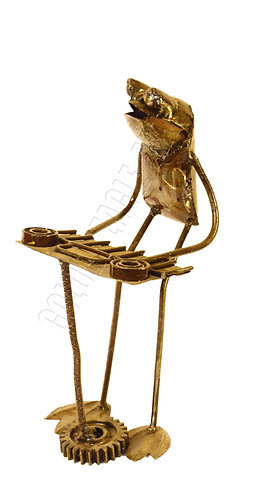 Recycled metal piano frog