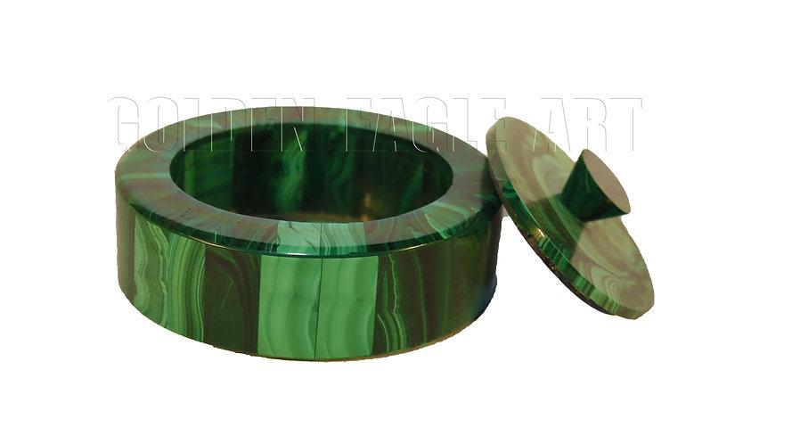 Malachite stone jewelry box