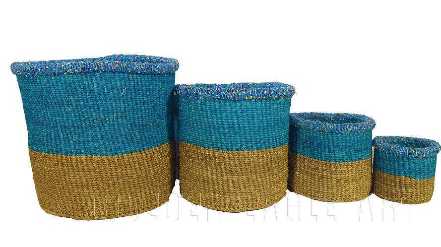 Set of 4 paper bin baskets