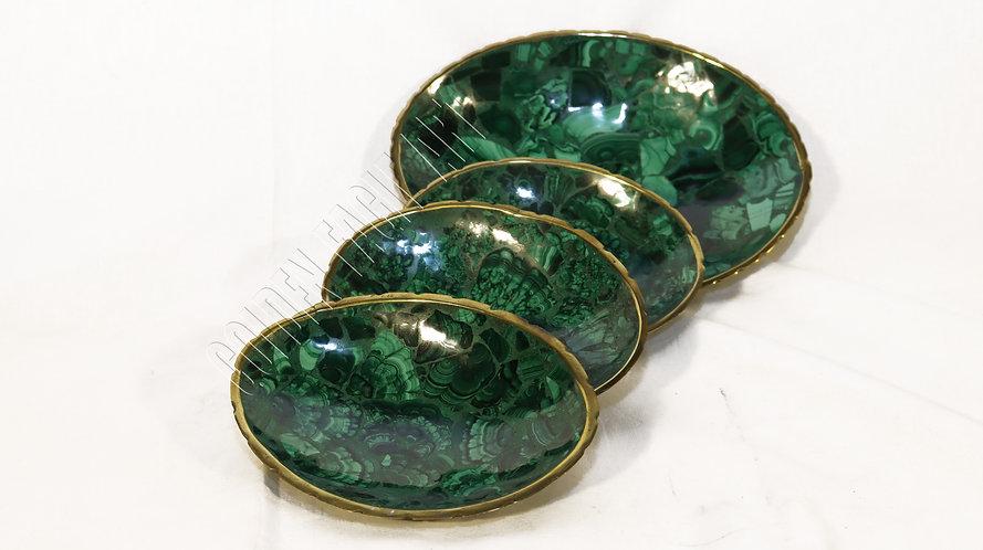 malachite stone bowls