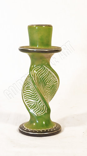 Soapstone candle holder