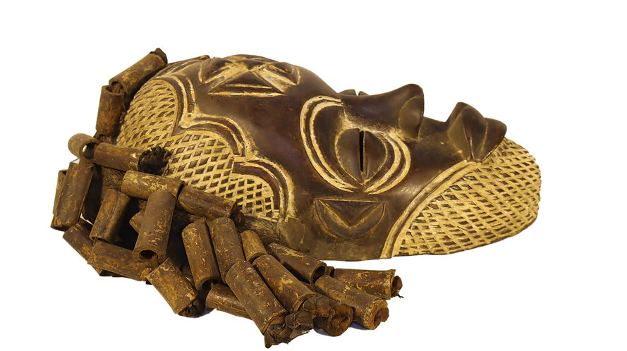 African traditional chokwe mask