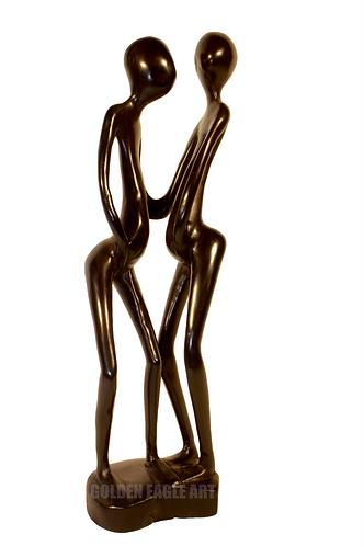 Abstract ebony lovers(couples)