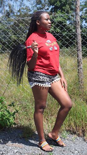 African big five t shirt and Cotton beach short