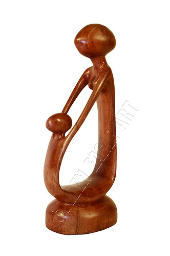 Abstract rosewood mother and child