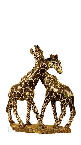 Verdite stone kissing giraffes