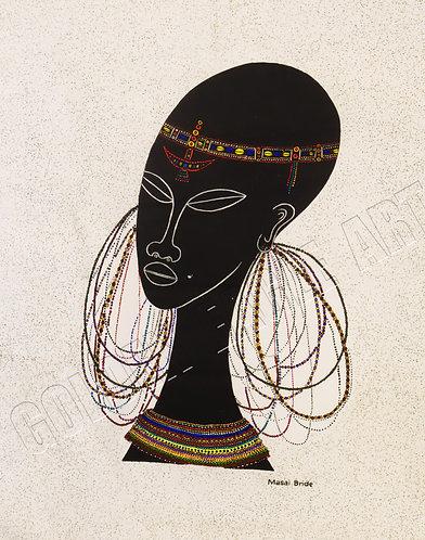 Maasai bride silk batik