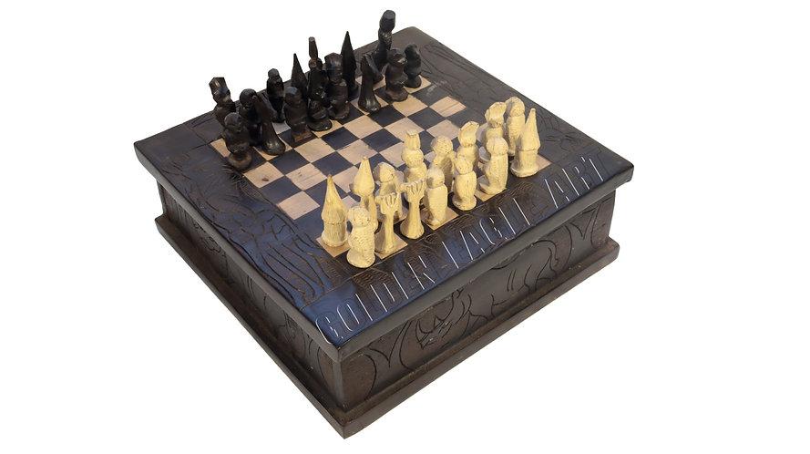 Ebony chess box