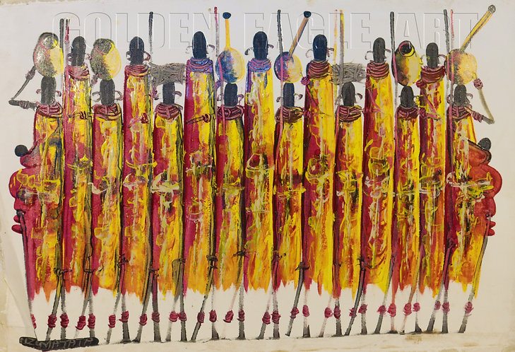 Maasai cultural  oil painting on canvas