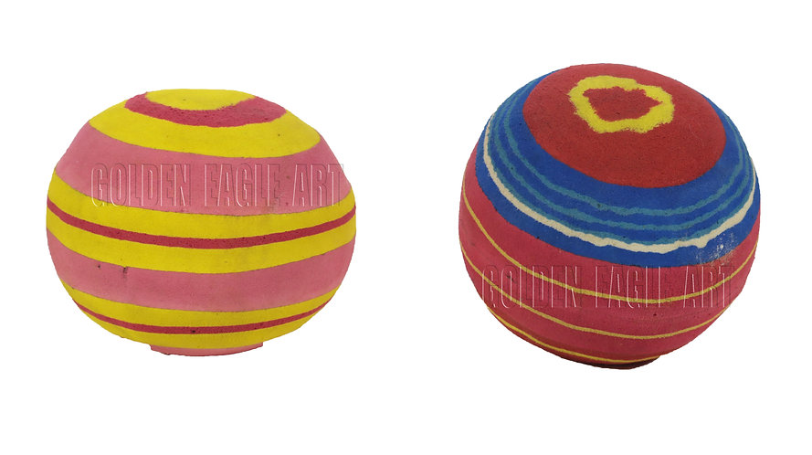 Recycled flipflop play balls