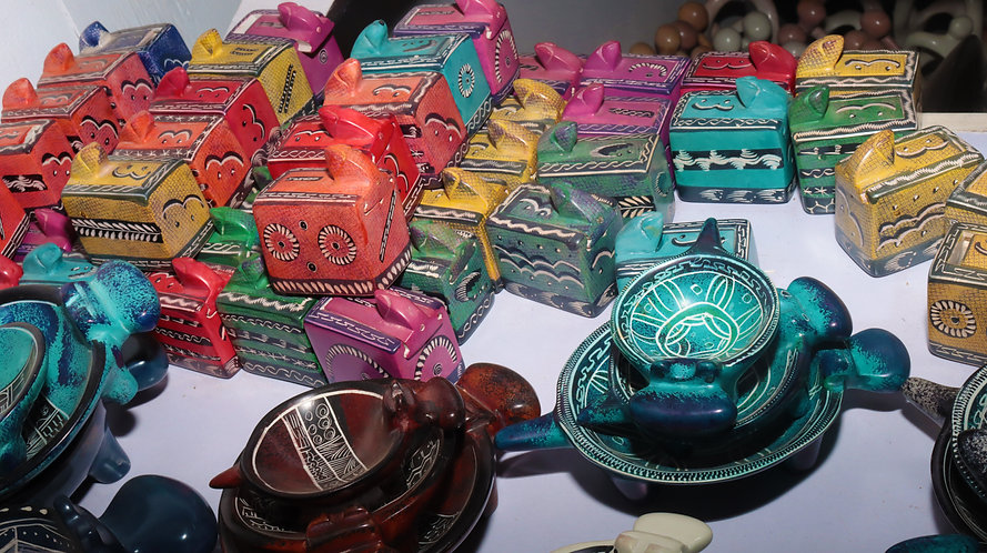 Magic soapstone snake boxes