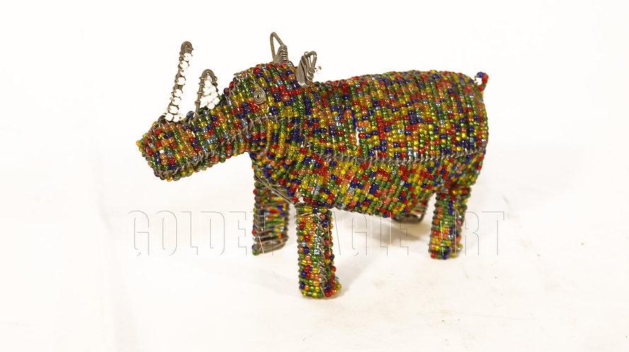 Beaded medium rhino